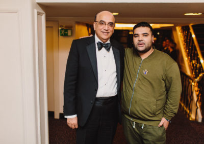 Bestway Chief Executive Zameer Choudrey and music producer Naughty Boy