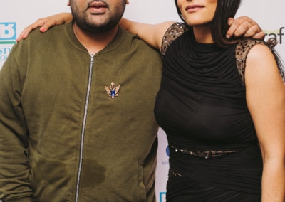 British Asian Trust ambassadors music producer Naughty Boy and radio presenter Neev Spencer