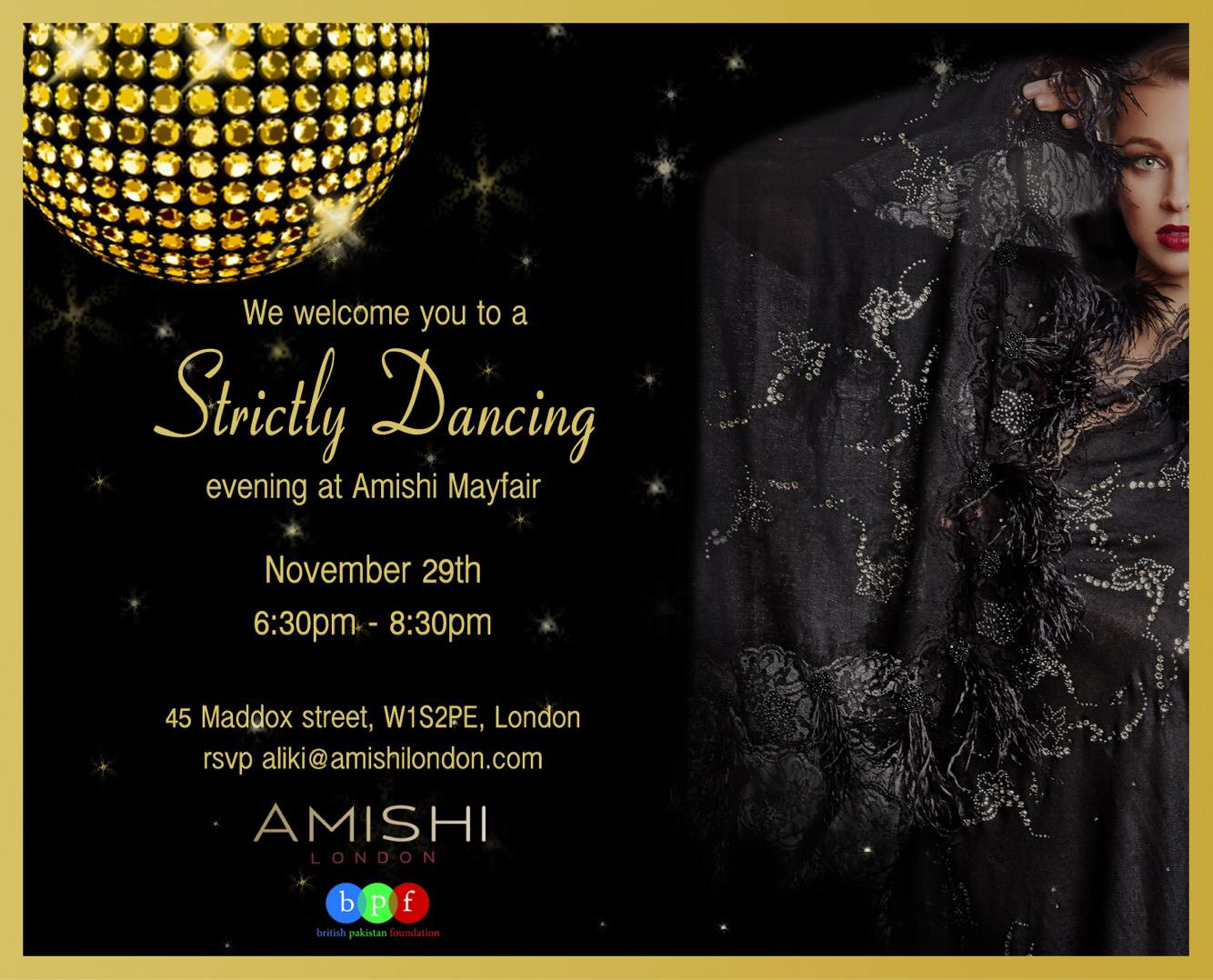 """BPF Partners with Amishi for a """"Strictly Come Dancing Evening"""""""