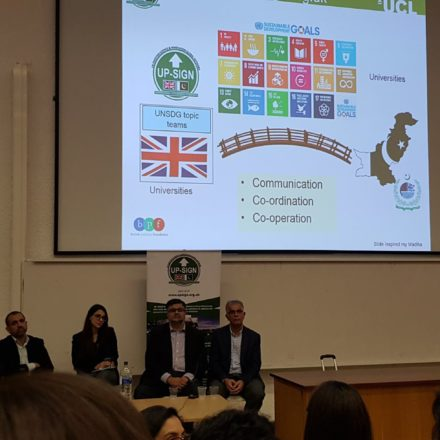 "Unleashing Pakistan's Potential"" Panel Discussion at UCL in Oct 2018"