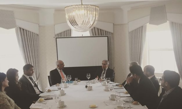 Patrons lunch meeting with guest speaker Hasan Askari