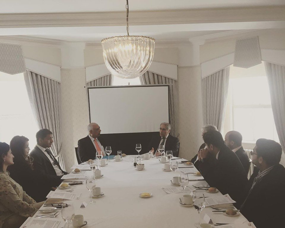 Patrons lunch meeting with guest speaker Hasan Askari